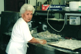 Mary Vallera made handmade pastas daily for her family and Luciana's Ristorante customers well into her 90s. Courtesy photo
