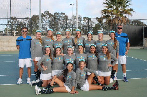 The Dana Hills girls tennis team lost to University in the quarterfinals of the CIF-SS Division 1 Championships on November 11. Courtesy photo