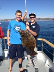 Dan Albright of Irvine is currently in second place in the Halibut Derby after catching this 10.6-pound halibut. Courtesy photo