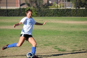 Hannah Nakatsuka and the Dana Hills girls soccer team are looking for their first league win of the season. Photo by Steve Breazeale
