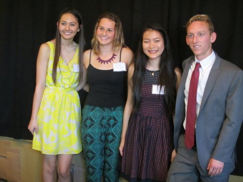 Pictured (L to R) Brianna Samonte, Emily Adams, Danya Hu and Nicolas Salvini were recognized by the Daughters of the American Revolution. Courtesy photo