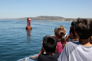Wood Canyon Elementary School students observe sea lions. Photo: Brian Park
