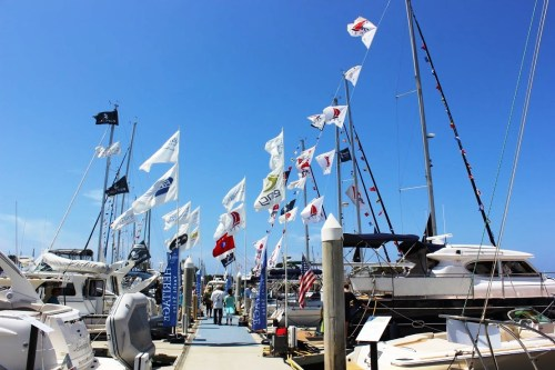 More than 100 boating vessels are displayed at the Dana Point Harbor for the 14th annual Boat Show. Photo: Catherine Manso