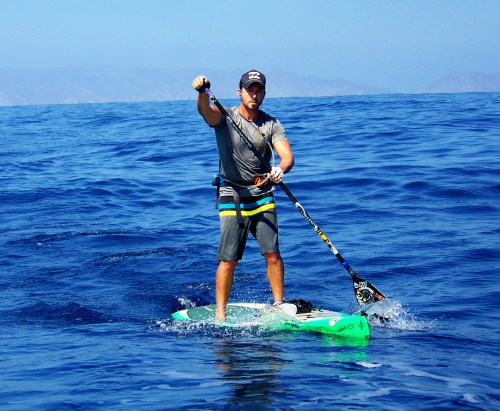 Dana Point's Will Schmidt completed a solo stand-up paddleboard journey that stretched from Canada to Mexico. Courtesy photo