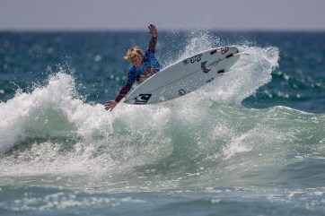 Colton Ward of San Clemente was the Boys U18 winner at Surfing America Prime Event No. 1, Aug. 9-10 at DMJs on Camp Pendleton. Photo: Jack McDaniel