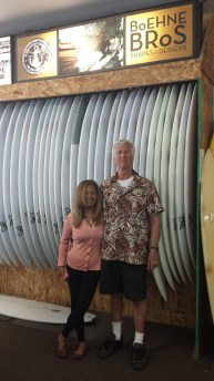 Barrie and Steve Boehne, owners of Infinity Surfboard Co. Photo: Courtesy