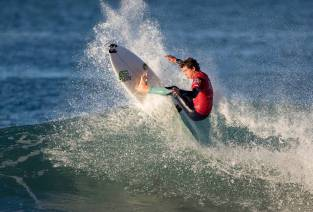 Griffin Colapinto won the Boys U18 division at Surfing America Prime, event No. 3 , Dec. 12-13 at Salt Creek Beach in Dana Point. Photo: Jack McDaniel
