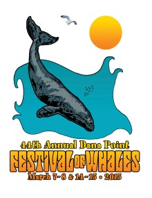 Festival of Whales 2015 logo design by Alec Brady
