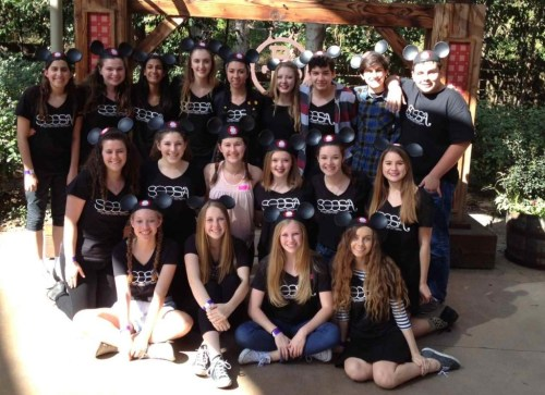 Nineteen SOCSA students competed in the Musical Theater Competition of America this month in Anaheim. Seven received vocal soloist recognition. Photo: Courtesy