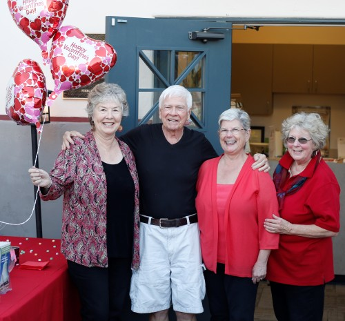 Tom Blake was featured at the Feb. 22 Friends of the San Juan Capistrano Library Local Author Lecture Series. Shown here (L to R) are author Cheryl Gardarian, Blake, panel moderator Ann Rohan and Mary DeMers, president, Friends of the Library. Photo: Monique Dodge