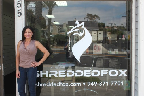 Regina Piazza owner of Shredded Fox brings fitness training and nutrition consultation to residents of Dana Point. Photo: Jacob Onofrio