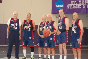 The USA 80 senior men's basketball team won the gold medal at the 2015 National Senior Games in Minneapolis on July 15. Photo: Courtesy