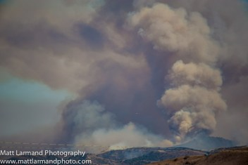 A fire rages Friday across the hills of Camp Pendleton, about two miles south of San Onofre Nuclear Generation Station on the east side of Interstate 5. Photo: Courtesy of Matt Larmand Photography