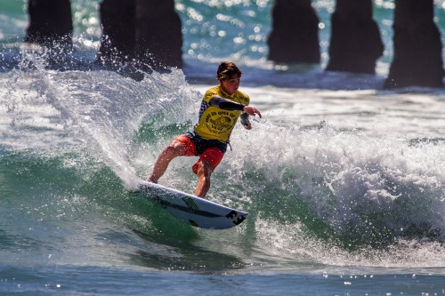Griffin Colapinto of San Clemente was crowned champion of the WSL Vans US Open of Surfing Pro Junior. Photo: WSL/Morris