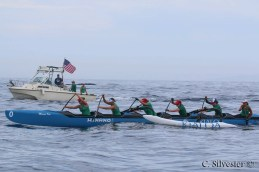 The Dana Outrigger Canoe Club women's team set a new race record at the US Outrigger Championship on Sept. 12. Photo: Chris Silvester