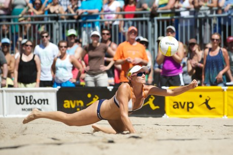 Jennifer Kessy is set to take part in an alumni volleyball match at Dana Hills High School on Oct. 7. Photo: AVP