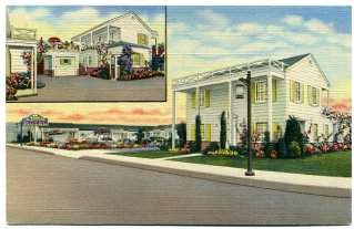 A postcard, circa 1950s, shows The Plantation Motel in its heyday. Photo: Courtesy of the Olvera Collection