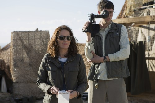 Tina Fey plays Kim Baker and Nicholas Braun plays Tall Brian in Whiskey Tango Foxtrot from Paramount Pictures and Broadway Video/Little Stranger Productions in theatres March 4, 2016.