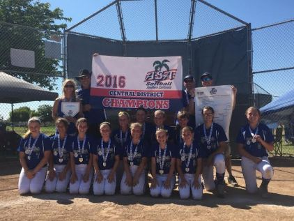 The Capo Girls Softball 12U All-Star team won its division at the district championships on June 19. Photo: Courtesy