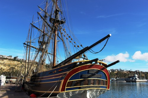 The Lady Washington is one of two vessels visiting the Ocean Institute from Washington. The ship will participate in a mock cannon battle on Saturday, Jan. 7 and 14. Photo: Kristina Pritchett