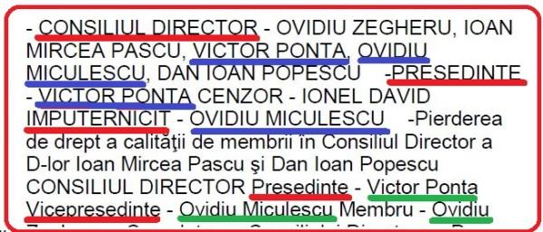 Consiliul Director al FUNDAȚIEI SECOLUL XXI