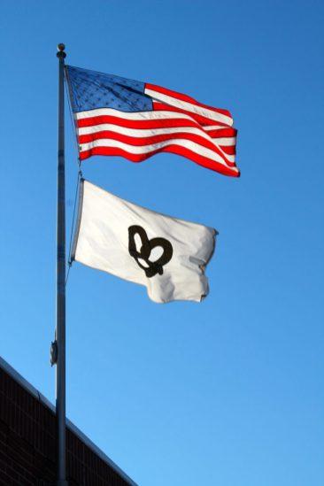 Gus' PretzelsThe flag above Gus' Pretzels Gus' Pretzels Website