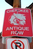 Historic Cherokee Antique RowIs a perfect afternoon getaway offering six blocks of independently owned and operated Antique, Collectible and Specialty Shops, Art Galleries, Restaurants and Café's!