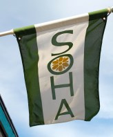 SoHaThe Southampton neighborhood is also known as SoHa. This image features one of the many flags that hang from neighborhood businesses and homes.