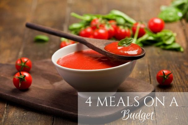 4 meals on a budget