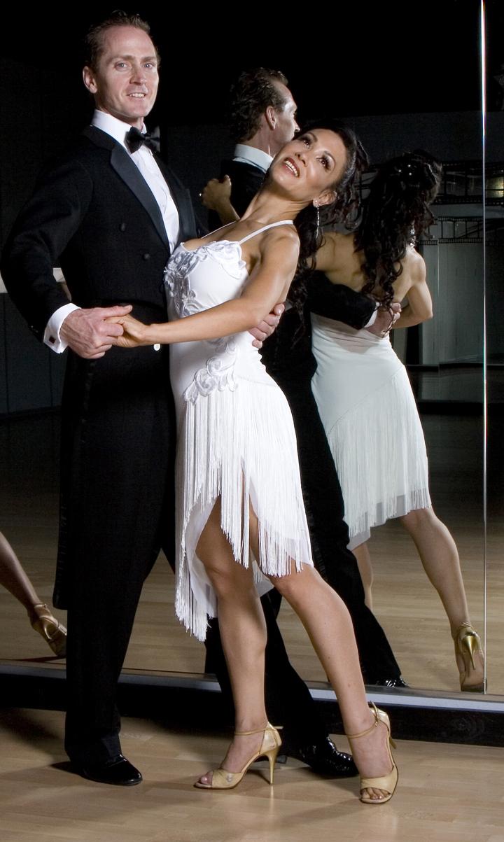 Jaqueline  A stunning white fringe Argentine Tango dress