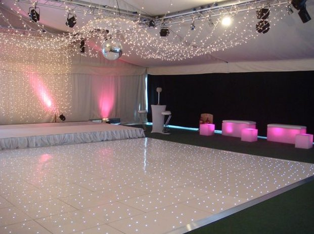 Dance Floor Hire  LED White Black Dance Floors for Hire