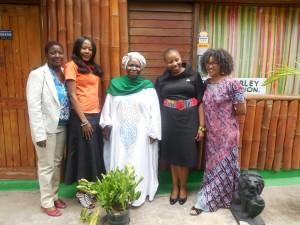 Ms. Hermans,  Rosemary Duncan (RMF), Dr. Zuma, Ms. Joyini, Dr. Potgieter