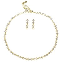 Swarovski Crystal Clear Crystal Necklace and Earrings Set ...