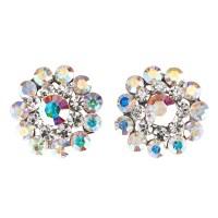 clear crystal stud earrings