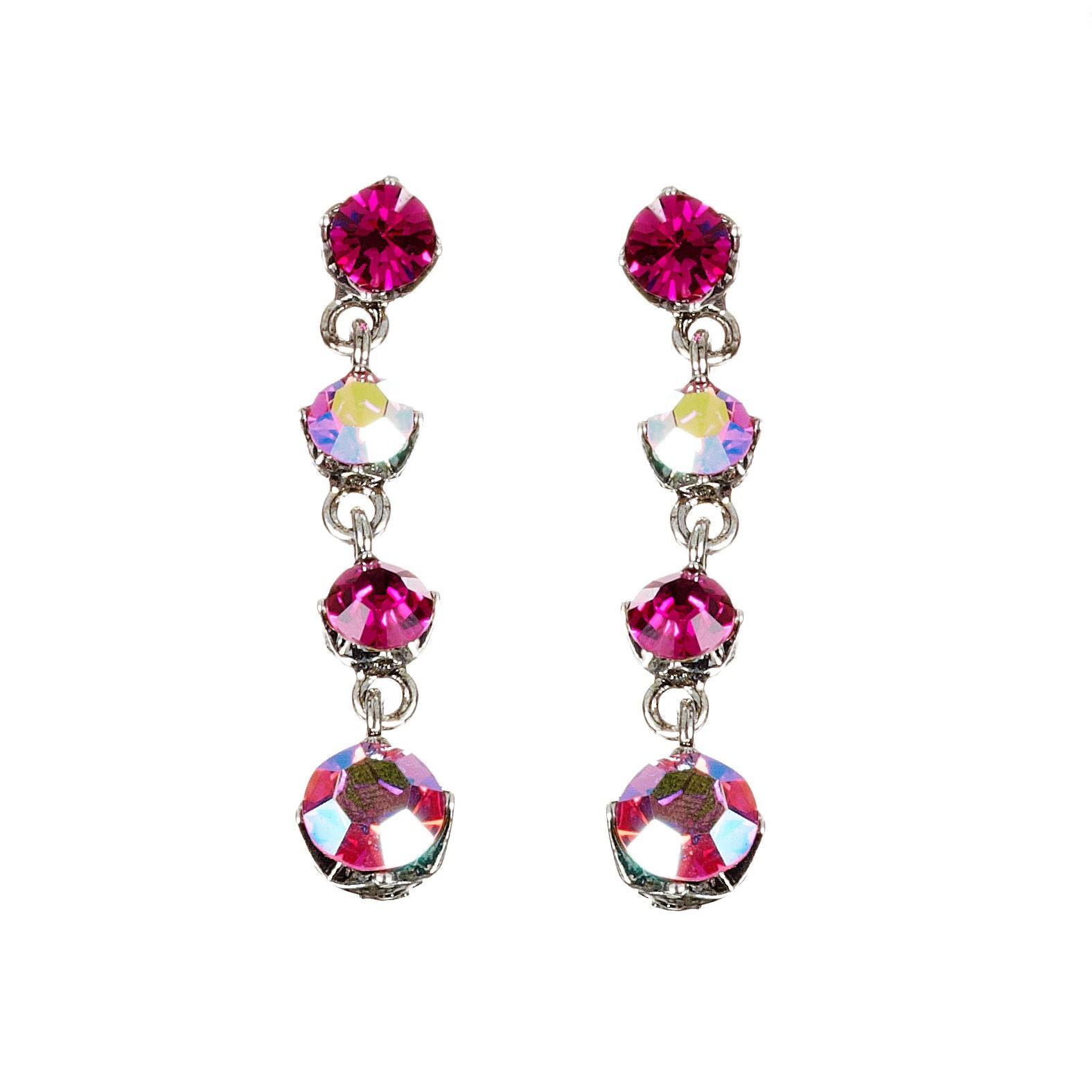 Swarovski Crystal Pink Crystal Necklace and Earrings Set