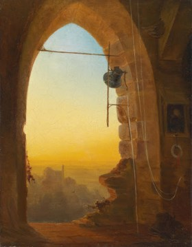 No, this isn't Oxford. But it's a nice painting. ~ Bernhard Stange, Das Abendläuten, 1880 ~