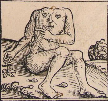 A Blemmye, also from the Nuremberg Chronicle