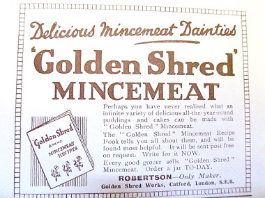 "The mincemeat range has disappeared, but ""Golden Shred"" marmalade remains popular"