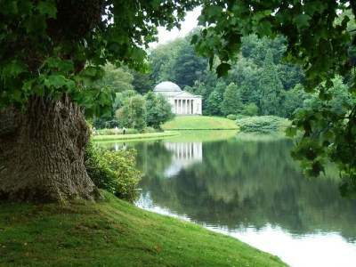 The Pantheon at Stourhead, Wiltshire. Classical-style 'remains' were by far the most popular follies in 18th century England.