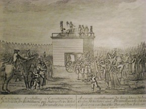 Struensee's execution: he was beheaded, drawn and quartered