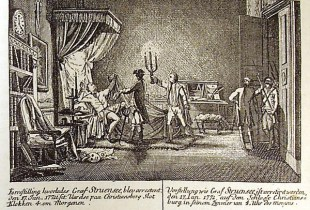 Struensee is arrested in his bedchamber