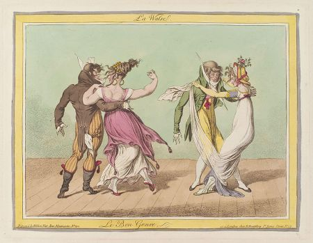 Caricaturist James Gillray mocks the dance in La Walse (1810)