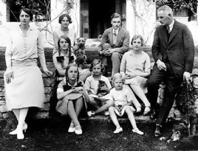 The Mitford family in 1921