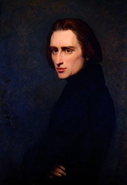 Liszt in 1837, aged 26