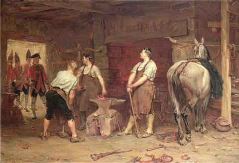 """After Culloden - Rebel Hunting"" - John Seymour Lucas (1884)"