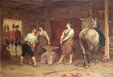 """""""After Culloden - Rebel Hunting"""" - John Seymour Lucas (1884)"""