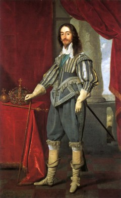 King Charles I in 1631, with long natural hair