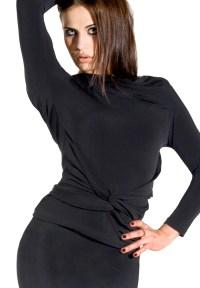 Maly Shawl Collar Dance Top MF141102