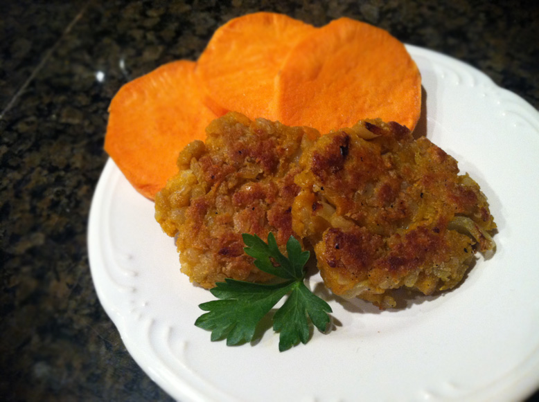 vegan, gluten-free sweet potato fritters