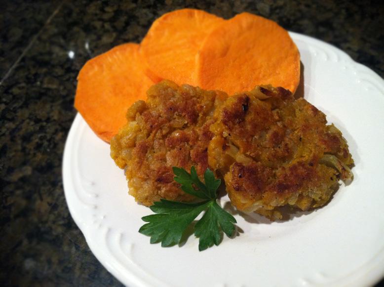 vegan, gluten-free sweet potato fritters